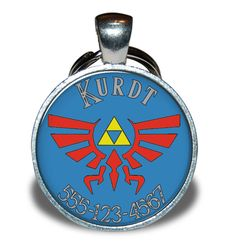 Pet ID Tag  Zelda Triforce Inspired by PupsterApparel on Etsy, $7.50