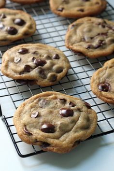 Everyday Chocolate Chip Cookies - A simple recipe for a perfectly chewy chocolate chip cookie you can bake up ANY day :) yummy cookies! Best Chocolate Chip Cookies Recipe, Chip Cookie Recipe, Yummy Cookies, Yummy Treats, Cookie Recipes, Dessert Recipes, Chocolate Chips, Chocolate Chip Biscuits, Chocolate Smoothies