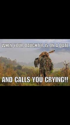 """My daughter did call me crying: """"Daddy, he hurt me."""" I was out the door and running,ignoring my body. I was too filled with anger and fear of what he& done to her. I breached the bullshit security…I got my daughter out of that mess. Nuff said. Dad Quotes, Daughter Quotes, To My Daughter, Daughters, Humor Quotes, Father Daughter, Military Jokes, Military Life, Retro Humor"""