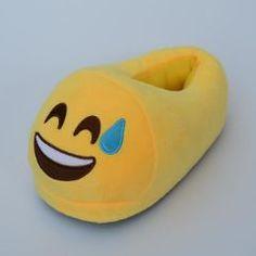 f7b8f6b9683 Happy Sweating Emoji 😅 Full Foot Adult Slippers Cute Plush
