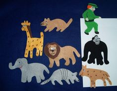 Goodnight Gorilla Flannel Board Felt Story Set and BONUS on Etsy, $6.50