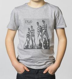 BOYS - EQIP Vintage photo print T-shirt - light grey. For boys who like to show their passion for hockey.