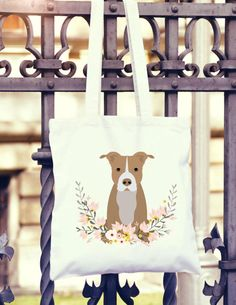 Pitbull Dog Mom Gift Market Tote Bag Perfect Custom Gift for