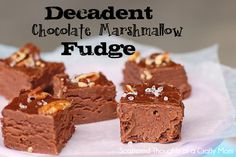 Chocolate Marshmellow Fudge   1 2/3 cup sugar   2/3 cup fat-free evaporated milk   2 Tbsp butter or margarine  12 oz semisweet chocolate morsels  14 large marshmallows  Chopped pecans (optional)  Coarsely ground sea salt (optional)