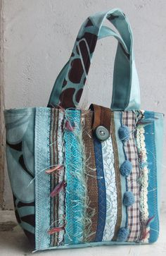 OOAK Handbag from recycled sample fabrics by BagsByEthicals, £23.00