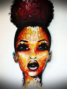 This is a beautiful painting done by Colombian Artist Dora Alis.she's such an exceptional artist who paints the faces of Afro Colombian children Natural Hair Art, Pelo Natural, Natural Hair Styles, Natural Beauty, Natural Updo, Black Girl Art, Black Women Art, Art Girl, Black Girls