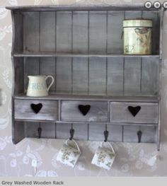 Wooden rack for wall