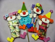 25 Children's day gifts ideas - Aluno On Circus Crafts, Carnival Crafts, Carnival Themes, Party Themes, Kids Crafts, Diy And Crafts, Children's Day Gift, Clown Party, Circus Birthday
