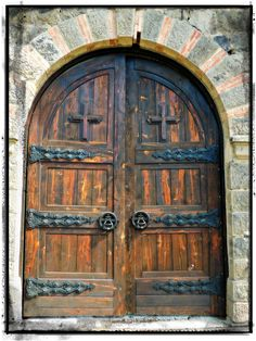 Main Door to Gracanica Monastery, Gracanica, Kosovo