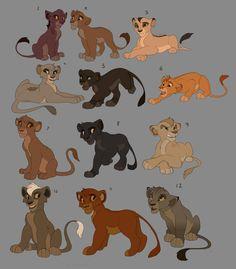 Lion King Cub Adoptables (Final batch) by Kitchiki on DeviantArt