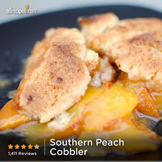 """Southern Peach Cobbler 
