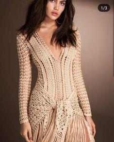 "Photo from album ""Alzira Vieira"" on Yandex. Crochet Shirt, Knit Crochet, Comfy Travel Outfit, Bikinis Crochet, Tie Styles, Crochet Designs, Crochet Clothes, Elegant Dresses, Flare Dress"