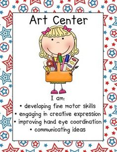 Red White & Blue Americana Center Signs by Herding Kats in Kindergarten Preschool Center Signs, Classroom Center Signs, Preschool Centers, Preschool Curriculum, Preschool Learning, Preschool Crafts, Daycare Crafts, Teaching, Play Based Learning