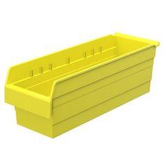 """Akro Mils ShelfMax8 Shelf Bin in 8"""" H x 22.5"""" W x 11.63"""" D (Set of 4) Color: Yellow"""