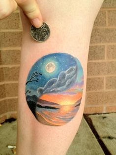 Done by Halo Jankowski at Black Lotus Tattoo (Severn, Maryland).  A reminder to find balance in my life.