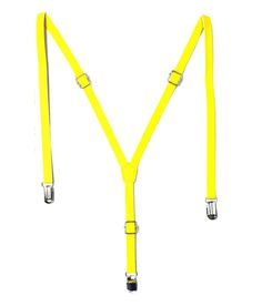 Urban Diseno Yellow Polyester Suspender For Men