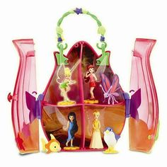 Toys Disney Fairies Tiny Tink & Friends Flower Purse Collect & Play Case, New