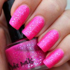 hot pink with green tip nails | ... pink-tips-nail-designs-with-pink-and-gold-pink-nail-images-pink-nail