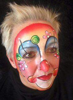 Clowns - Famous Last Words Kids Makeup, Clown Makeup, Makeup Art, Face Painting Designs, Body Painting, Halloween Masks, Halloween Makeup, Clowns, Clown Face Paint