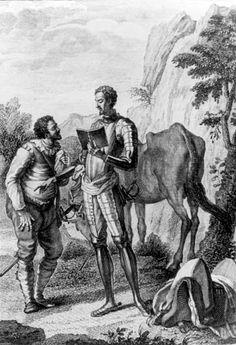 [Grabado] Don Quijote le lee a Sancho la carta para Dulcinea del Toboso, cap�tulo XXV de la Primera Parte.