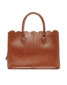 leather scallop edge shopper / asos... i'm a fan