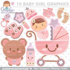 New Cute Children Clipart Baby Shower Ideas Clipart Baby, Baby Bottle Storage, Travel Clipart, Digital Stamps, Digital Papers, Digital Scrapbooking, Baby Shower Niño, Planner Supplies, Baby Accessories
