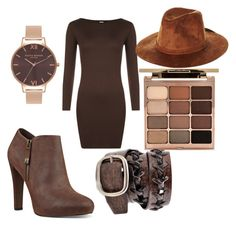"""""""Ticci tobys girl 2"""" by jadwoll ❤ liked on Polyvore featuring WearAll, Nine West, Brixton, Olivia Burton and Stila"""