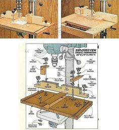 Shopmade Drill Press Hold Down - Drill Press Tips, Jigs and Fixtures | WoodArchivist.com