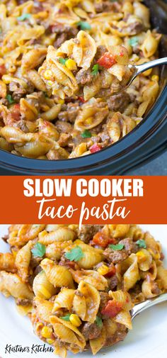 Home Made Doggy Foodstuff FAQ's And Ideas This Easy Slow Cooker Taco Pasta Has Cheese, Pasta Shells, Ground Beef And Taco Seasoning For A Delicious Meal It's The Best Cheesy Crockpot Casserole Perfect For A Family Dinner Idea. Crockpot Dishes, Crock Pot Cooking, Cooking Recipes, Crockpot Recipes Pasta, Quick Crock Pot Recipes, Hamburger Crockpot Meals, Crock Pot Pasta, Easy Healthy Crockpot Recipes, Slow Cooker Recipes Family
