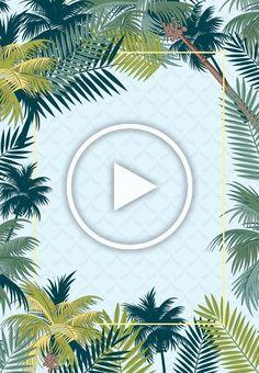 Simple tropical rainforest plant summer promotion poster psd