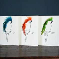 Parrot cards by Cluck Cluck