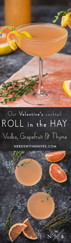 In need of a little pizzazz to brighten your February? Why not celebrate with our Valentine's Day cocktail, Roll in the Hay: a sophisticated combination of vodka, fresh grapefruit and thyme, topped with dry Rosé Champagne. It's a combination you'll fall in love with.