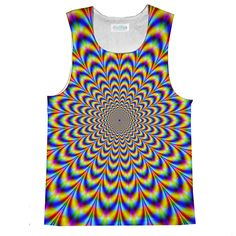 Right on, dude.this Fractal tank is totally groovy baby! Our tank tops are made of polyester. The prints will last forever and never fade or peel.[sizechart-tankloose] Made in the UK. Loose Tank Tops, Fractals, Tank Man, Prints, Mens Tops, How To Make, Collection, Design, Clothing