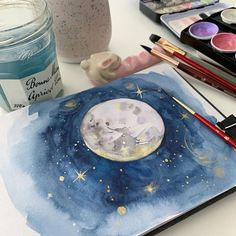 Watercolor Art by Design Team Member Anna. You can find her at @dearannart Click to see all our watercolor products. #artphilosophy #primamarketinginc #brandambassador #watercolor #art #artist #painting #artwork #creative #watercolorart #watercolorpainting #arteducation #painting #gifts #holidays #christmas #watercolourpainting #watercolorist #watercolorartist #watercolorart #watercolour #howtopaint #dailyart Art Drawings Sketches Simple, Galaxy Painting, Watercolor Paintings, Artist Painting, Art Education, Art Projects, Illustration Art, Artsy, Anna