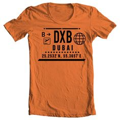 DXB - DUBAI CLEAR PORT T-SHIRT - ORANGE