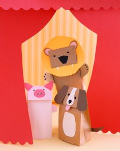 Paper bag animal puppets.  I think you could build more creativity if you give the students more freedom (e.g., different animals, color options...).  Then, make sure you have a supply of animal Readers Theater scripts for your center.  You'll find LOTS of trustworthy Readers Theater scripts at www.ReadersTheaterAllYear.com