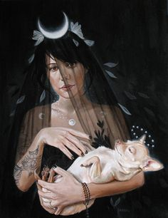 "Edith Lebeau's new painting "" Go back to Sleep"" available at www.moderneden.com"