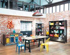 Muebles y decoración de estilo industrial loft y fábrica