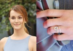 Fashion designer and reality star Whitney Port got engaged to Tim Rosenman in November 2013 and wears a beautiful oval-cut French-set diamond band engagement ring in rose gold. Description from ritani.com. I searched for this on bing.com/images