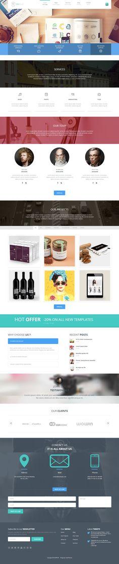 DISPLAY - CreAtive WordPress Theme #web #design #creative