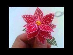 İğne oyası - YouTube Needle Tatting, Needle Lace, Beaded Flowers, Diy Flowers, Crazy Quilt Stitches, Quilt Stitching, Lace Embroidery, Lace Making, Wool Yarn