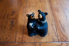 adirondack wedding black bear cake topper Adirondack Destination Wedding Brown Tract Pond #elopement #destinationwedding #mountainwedding