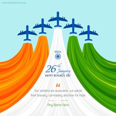 Write Name On Republic Day Wishes