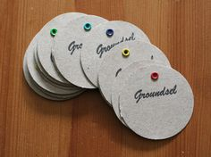 idea for gift tags....saw something similar for wine charms...they make their own with a fun stamp and marker