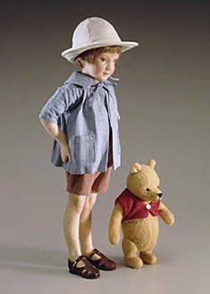 Ellen's Take: Dollmaking.  I love R. John Wright Dolls because they give us Pooh and Christopher Robin to hold in 3D, not just the illusion of them.  RJW dolls are faithful to their muses, the artists and artwork that inspire them.