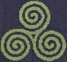 Free Triple Spiral Cross Stitch Pattern Model