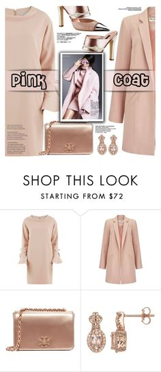 """""""Pink Coat"""" by yurisnazalieth ❤ liked on Polyvore featuring Gina Bacconi, Miss Selfridge, Louis Vuitton and Tory Burch"""