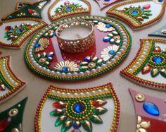 Kundan Rangoli Diwali Rangoli by TouchofcraftIndia on Etsy