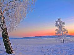 magnificent sunset...snow snow snow snow snow snow snow snow snow