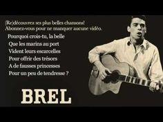 Jacques Brel - La tendresse - ( Paroles )